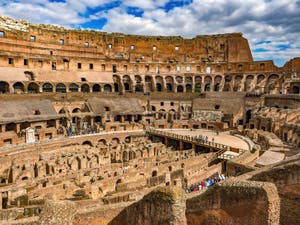 Colosseum Arena, Flavian Amphitheatre in Rome in Italy
