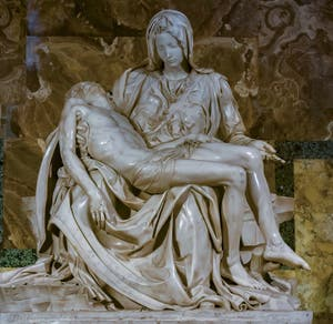 Michelangelo Pietà, St. Peter's Basilica Vatican City in Rome Italy
