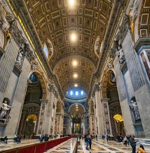 Saint Peter's Basilica of the Vatican in Rome in Italy