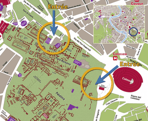 Location map of the Roman Forum in Romee