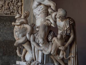 Laocoön and his Sons in the Vatican Pio-Clementino Museum in Rome in Italy