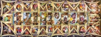 Michelangelo Sistine Chapel ceiling frescoe in the Vatican City in Rome