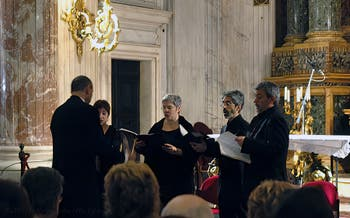Choir Concert in the Capuchin Crypt in Rome in Italy